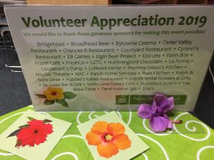 Volunteer Appreciation Event – April 10, 2019